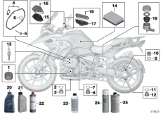 Goto diagram: BMW Classic Motorrad Modell R 1200 GS 17 (0A51, 0A61)( USA ), Category 02.05 Service, engine oil / inspection :: Diagram: 02_0101