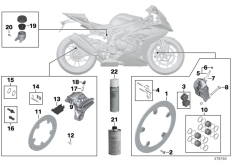 Goto diagram: BMW Classic Motorbike Model S 1000 RR 17 (0D50, 0D60)( ECE ), Category 02.10 Service, brakes :: Diagram: 02_0105
