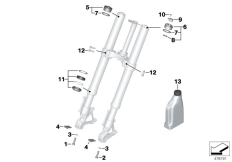 Goto diagram: BMW Classic Motorrad Modell R 1200 RS (0A05, 0A15)( USA ), Category 02.08 Service of telescopic forks :: Diagram: 02_0106
