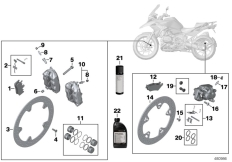Goto diagram: BMW Classic Motorrad Modell R 1200 GS 17 (0A51, 0A61)( USA ), Category 02.10 Service, brakes :: Diagram: 02_0108