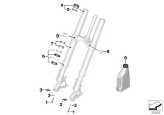 Goto diagram: BMW Classic Motorrad Modell R 1200 RS (0A05, 0A15)( USA ), Category 02.08 Service of telescopic forks :: Diagram: 02_0109