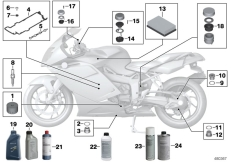 Goto diagram: BMW Classic Motorbike Model K 1200 S (0581,0591)( ECE ), Category 02.05 Service, engine oil / inspection :: Diagram: 02_0115