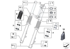 Goto diagram: BMW Classic Motorbike Model R nineT Racer (0J21, 0J23)( USA ), Category 02.08 Service of telescopic forks :: Diagram: 02_0117