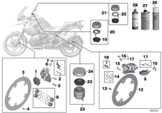 Goto diagram: BMW Classic Motorbike Model R 1200 GS Adve. 10 (0470,0480)( ECE ), Category 02.10 Service, brakes :: Diagram: 02_0120