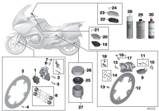 Goto diagram: BMW Classic Motorbike Model R 900 RT 05 SF (0367,0387)( ECE ), Category 02.10 Service, brakes :: Diagram: 02_0121