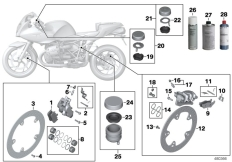 Goto diagram: BMW Classic Motorrad Modell R 1200 S (0366,0396)( ECE ), Category 02.10 Service, brakes :: Diagram: 02_0122