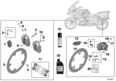 Goto diagram: BMW Classic Motorrad Modell R 1200 RT (0A03, 0A13)( USA ), Category 02.10 Service, brakes :: Diagram: 02_0125