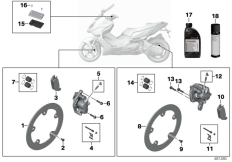 Goto diagram: BMW Classic Motorrad Modell C 650 Sport 16 (0C04, 0C14)( USA ), Category 02.10 Service, brakes :: Diagram: 02_0127