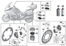 Goto diagram: BMW Classic Motorrad Modell K 1600 GTL (0602, 0612)( ECE ), Category 02.10 Service, brakes :: Diagram: 02_0139