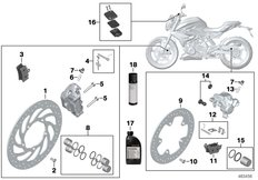 Goto diagram: BMW Classic Motorrad Modell G 310 GS (0G22)( BRA ), Category 02.10 Service, brakes :: Diagram: 02_0144
