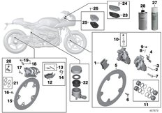 Goto diagram: BMW Classic Motorbike Model R nineT Racer (0J21, 0J23)( USA ), Category 02.10 Service, brakes :: Diagram: 02_0149