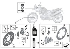 Goto diagram: BMW Classic Motorrad Modell F 700 GS 17 (0B06, 0B16)( USA ), Category 02.10 Service, brakes :: Diagram: 02_0153