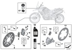 Goto diagram: BMW Classic Motorrad Modell F 800 GS Adve. (0B05, 0B15)( ECE ), Category 02.10 Service, brakes :: Diagram: 02_0154