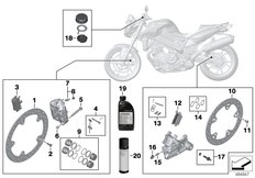 Goto diagram: BMW Classic Motorbike Model F 800 R 15 (0B34)( THA ), Category 02.10 Service, brakes :: Diagram: 02_0155
