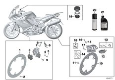Goto diagram: BMW Classic Motorbike Model F 800 GT (0B03, 0B13)( USA ), Category 02.10 Service, brakes :: Diagram: 02_0157
