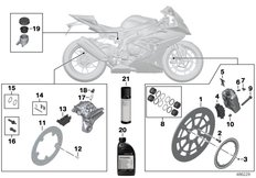Goto diagram: BMW Classic Motorrad Modell HP4 (0D01, 0D11)( ECE ), Category 02.10 Service, brakes :: Diagram: 02_0166