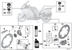 Goto diagram: BMW Classic Motorrad Modell K 1300 GT (0538,0539)( USA ), Category 02.10 Service, brakes :: Diagram: 02_0169