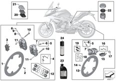 Goto diagram: BMW Classic Motorbike Model S 1000 XR (0D23)( BRA ), Category 02.10 Service, brakes :: Diagram: 02_0171