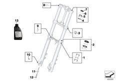 Goto diagram: BMW Classic Motorrad Modell F 750 GS (0B08, 0B18)( USA ), Category 02.08 Service of telescopic forks :: Diagram: 02_0177