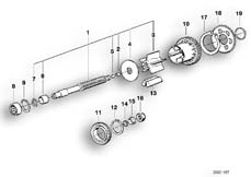 Goto diagram: BMW Classic Motorbike Model K 100 RS 83 (0502,0503,0513)( ECE ), Category 11.10 Output shaft :: Diagram: 11S1769