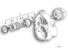 Goto diagram: BMW Classic Motorbike Model K 100 RS 83 (0502,0503,0513)( ECE ), Category 11.10 STARTER OVERR.CLUTCH DRIVE/COUNTERSHAFT :: Diagram: 11S1782