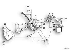 Goto diagram: BMW Classic Motorbike Model K 100 RS (0523,0533)( USA ), Category 11.35 WATERPUMP/OILPUMP - OIL FILTER :: Diagram: 11S3505
