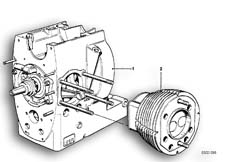 Goto diagram: BMW Classic Motorrad Modell R 80 G/S( ECE ), Category 11.05 Short engine / Cylinder with pistons :: Diagram: 11_1682