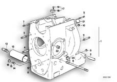 Goto diagram: BMW Classic Motorrad Modell R 80 R 91( ECE ), Category 11.10 Engine housing mounting parts :: Diagram: 11_1688