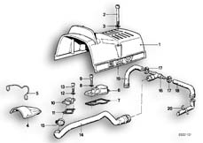 Goto diagram: BMW Classic Motorbike Model R 80 RT( USA ), Category 11.10 COVER PANEL / ENGINE VENTILATION :: Diagram: 11_1694