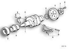 Goto diagram: BMW Classic Motorbike Model R 100 R Mystik 94( USA ), Category 11.25 CRANKSHAFT/CONNECTING ROD/MOUNTING PARTS :: Diagram: 11_1695