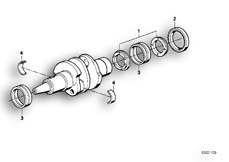 Goto diagram: BMW Classic Motorbike Model R 80 RT( USA ), Category 11.25 CRANKSHAFT MOUNTING :: Diagram: 11_1696