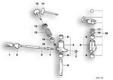 Goto diagram: BMW Classic Motorbike Model R 100 RS( ECE ), Category 11.30 Timimg gear - rocker arm/valves :: Diagram: 11_1701