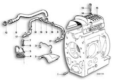 Goto diagram: BMW Classic Motorbike Model R 65 (20KW)( ECE ), Category 11.10 ENGINE VENTILATION :: Diagram: 11_1715
