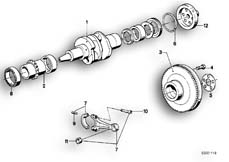 Goto diagram: BMW Classic Motorbike Model R 80 RT( USA ), Category 11.25 CRANKSHAFT/CONNECTING ROD/MOUNTING PARTS :: Diagram: 11_1717