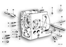 Goto diagram: BMW Classic Motorbike Model R 100 RS( ECE ), Category 11.10 Engine housing mounting parts :: Diagram: 11_1726