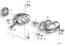 Goto diagram: BMW Classic Motorbike Model R 100 RS( ECE ), Category 11.20 CYLINDER HEAD / COVER / GASKETS :: Diagram: 11_1750