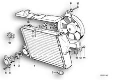 Goto diagram: BMW Classic Motorbike Model K 100 RS 83 (0502,0503,0513)( ECE ), Category 11.35 RADIATOR - THERMOSTAT/FAN :: Diagram: 11_1761