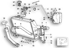 Goto diagram: BMW Classic Motorbike Model K 100 RS 83 (0502,0503,0513)( ECE ), Category 11.35 COOLING SYSTEM - WATER HOSES :: Diagram: 11_1762