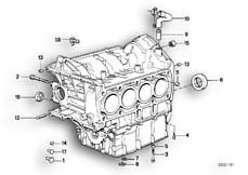 Goto diagram: BMW Classic Motorbike Model K 1100 LT (0526, 0536)( ECE ), Category 11.11 Engine Block Mounting Parts :: Diagram: 11_1763
