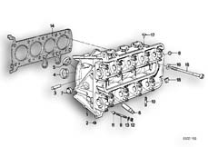 Goto diagram: BMW Classic Motorbike Model K 100 RS 83 (0502,0503,0513)( ECE ), Category 11.20 Cylinder head :: Diagram: 11_1764