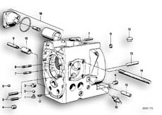 Goto diagram: BMW Classic Motorbike Model R75/5( ECE ), Category 11.10 Engine housing mounting parts :: Diagram: 11_1781