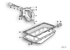 Goto diagram: BMW Classic Motorbike Model R 80 RT( USA ), Category 11.35 Oil pan :: Diagram: 11_1783