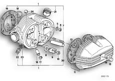 Goto diagram: BMW Classic Motorbike Model R 80 RT( USA ), Category 11.20 Cylinder head :: Diagram: 11_1785