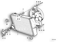 Goto diagram: BMW Classic Motorbike Model K 100 RS (0523,0533)( USA ), Category 11.35 RADIATOR - THERMOSTAT/FAN :: Diagram: 11_1823