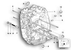 Goto diagram: BMW Classic Motorbike Model R 1200 C Indep. 00 (0405,0433)( ECE ), Category 11.11 Engine housing :: Diagram: 11_1836