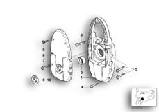 Goto diagram: BMW Classic Motorbike Model R 1200 C Indep. 00 (0405,0433)( ECE ), Category 11.14 Front cover/Alternator support cover :: Diagram: 11_1837