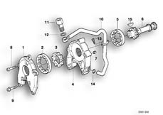 Goto diagram: BMW Classic Motorrad Modell R 1100 R 94 (0402,0407)( USA ), Category 11.41 Single parts for oil pump :: Diagram: 11_1844