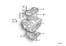 Goto diagram: BMW Classic Motorbike Model F 650 ST 97 (0163,0168)( ECE ), Category 11.12 Cylinder head :: Diagram: 11_1853