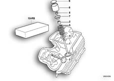 Goto diagram: BMW Classic Motorbike Model F 650 ST 97 (0163,0168)( USA ), Category 11.34 TIMING GEAR - INTAKE VALVE/EXHAUST VALVE :: Diagram: 11_1860