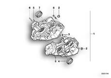 Goto diagram: BMW Classic Motorbike Model F 650 ST 97 (0163,0168)( USA ), Category 11.11 Engine housing mounting parts :: Diagram: 11_1870